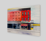 Watercolor Painting of Castro's Mexican Restaurant in Brooklyn