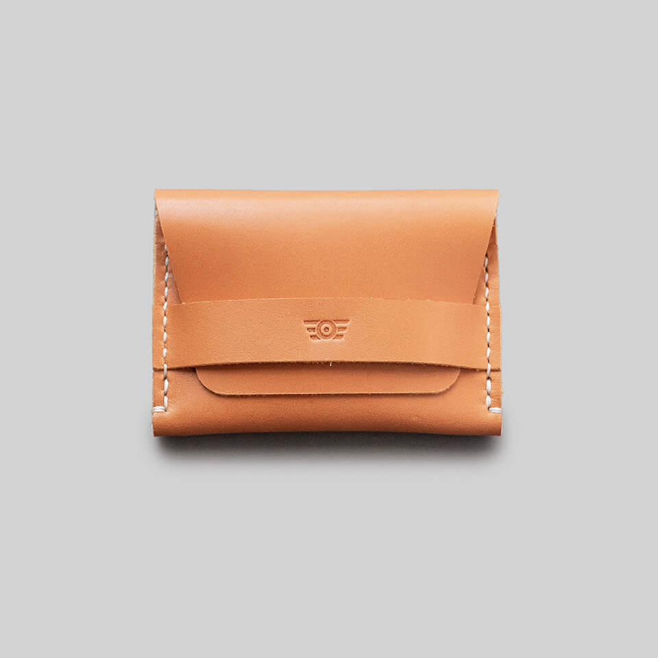 "Carteira Flap ""TYPE"" Double Pocket - Tan"