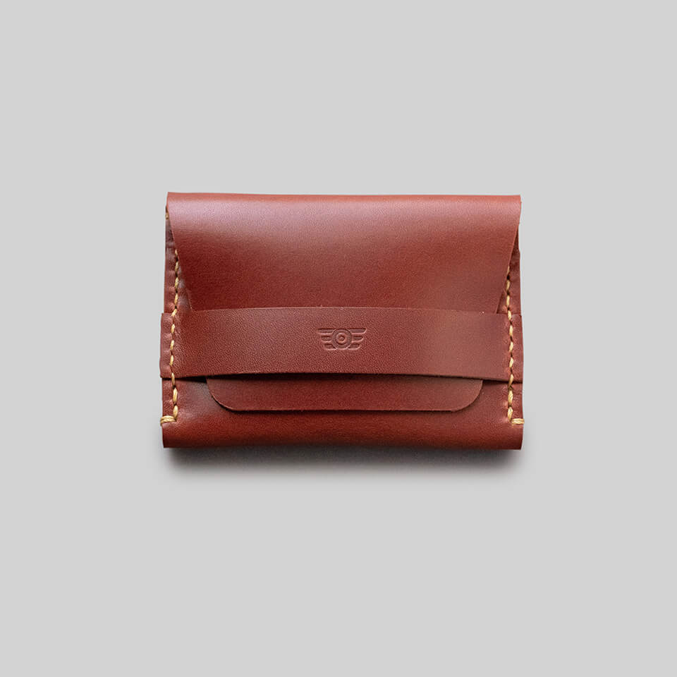 "Carteira Flap ""TYPE"" Double Pocket - Borgonha"