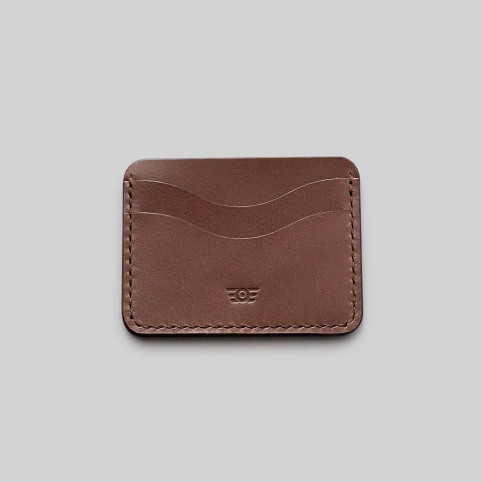 "Cardholder ""BONNEVILLE"" - Medium Brown"