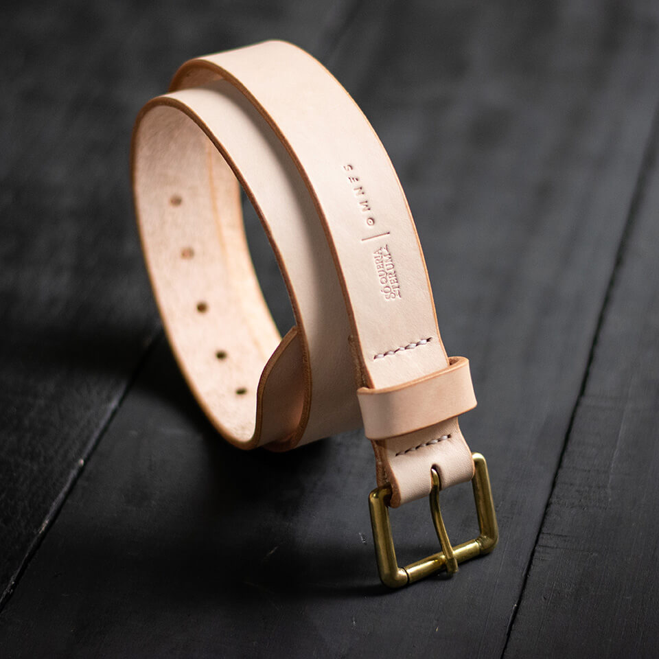 The Raw Leather Belt ( PRÉ VENDA)