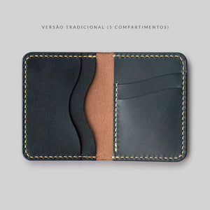 "Carteira Bifold ""CONTINENTAL"" - Dual Color (Borgonha e All Black)"