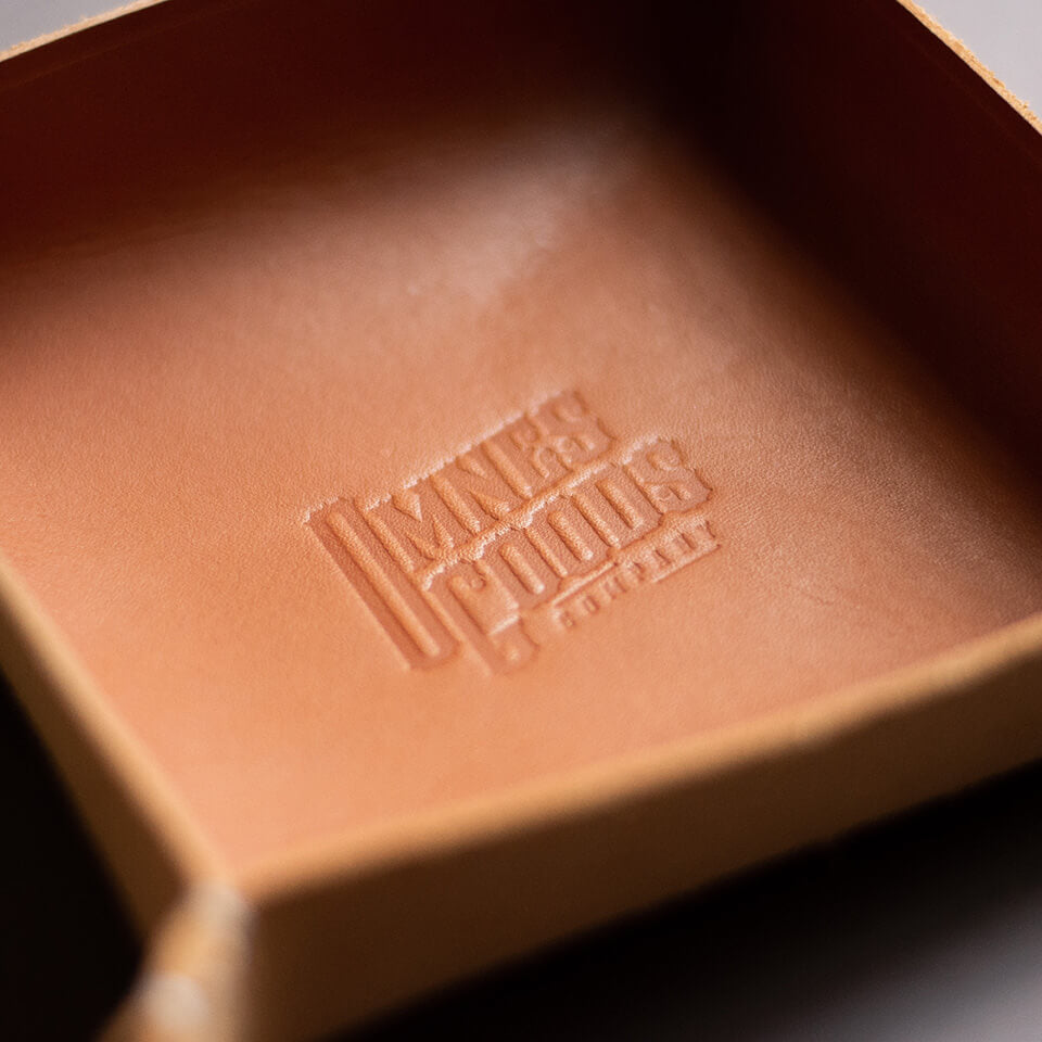 "Leather Tray ""COOPER"" - Tan"