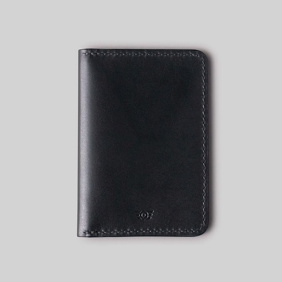 "Carteira Flap ""TYPE"" Double Pocket - All Black"