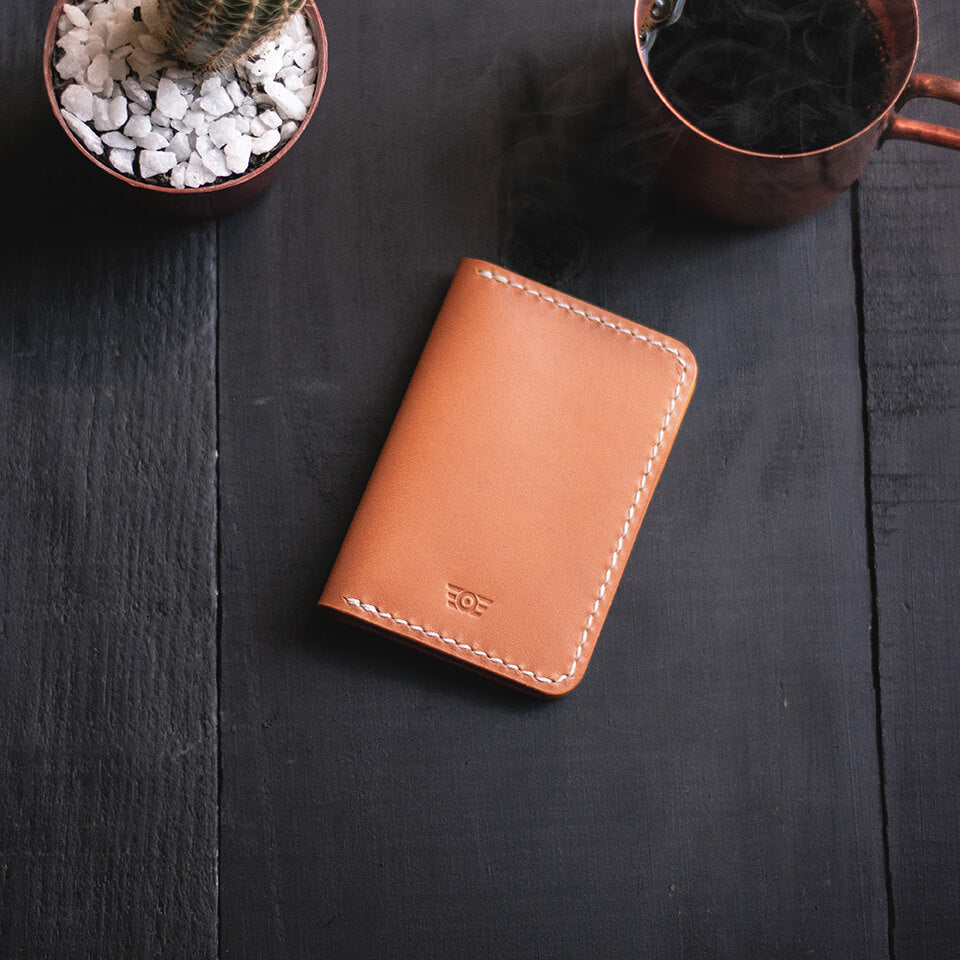 "Carteira Bifold ""CONTINENTAL"" - Tan"