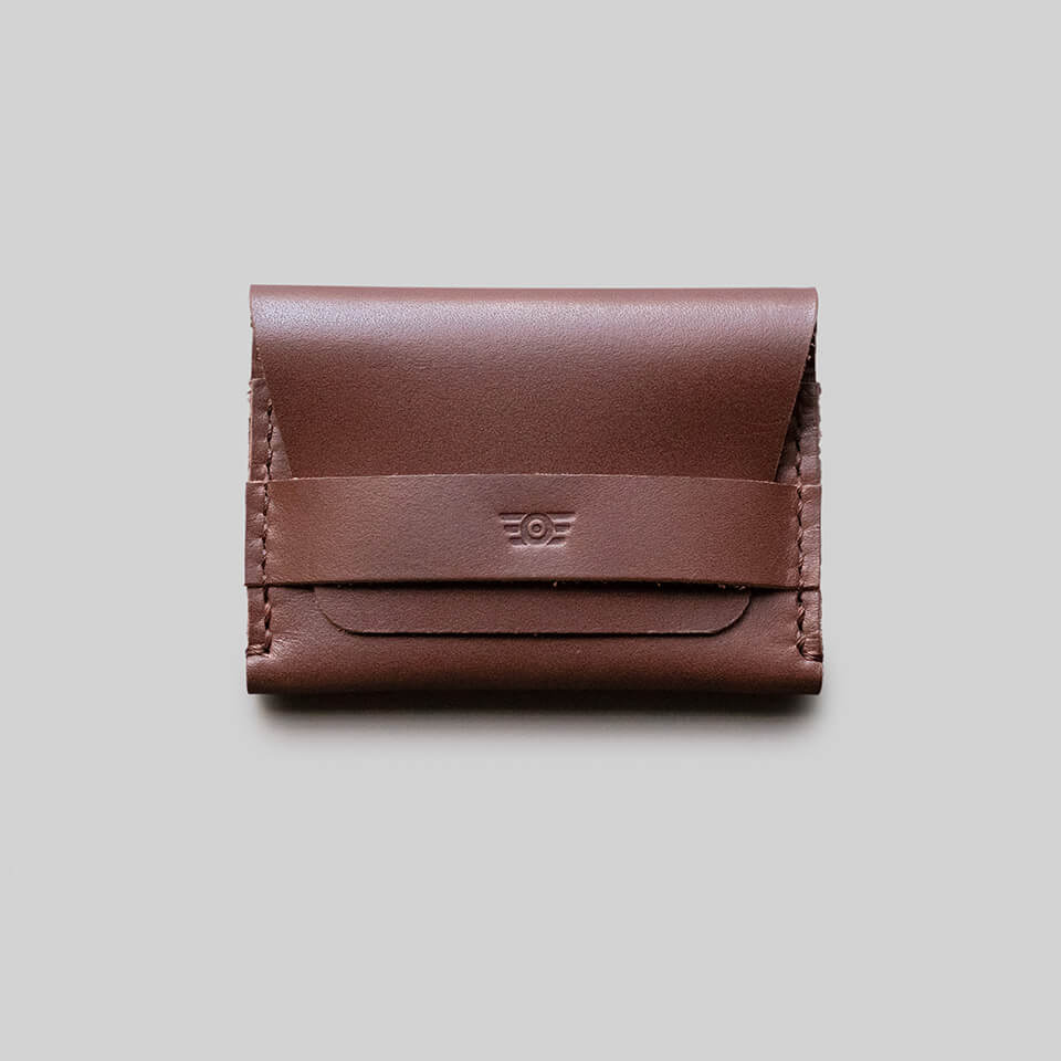 "Carteira Flap ""TYPE"" Double Pocket - Medium Brown"