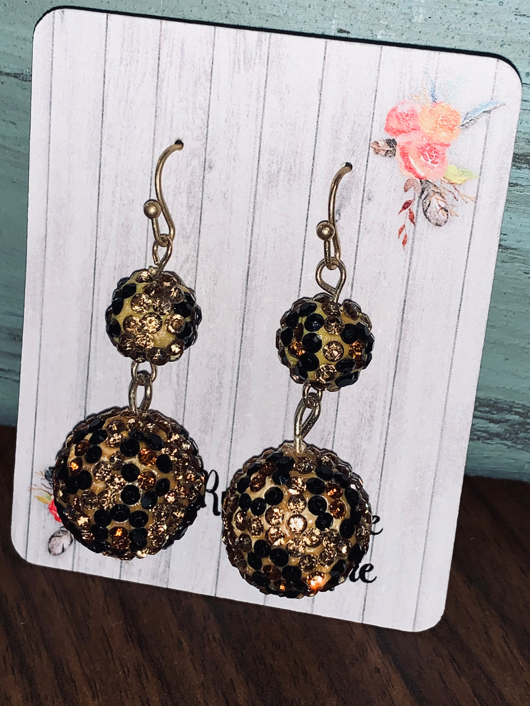 Sparkle in the Wild Leopard Earrings