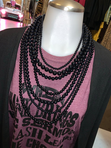 7-Strand Black Necklace