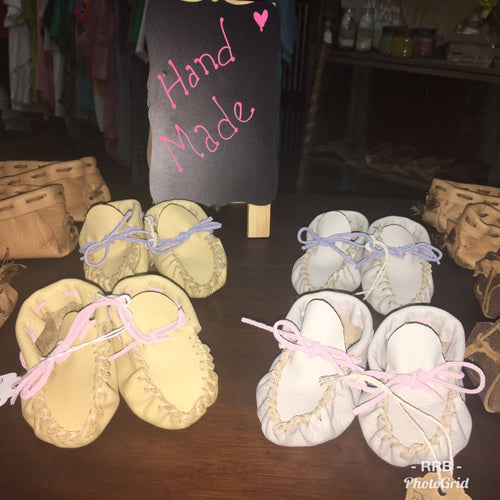 Baby Moccasins-Deer leather
