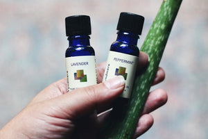 Sunburn Spray with Lavender and Peppermint essential oil