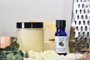 Vapor chest rub using essential oils and beeswax