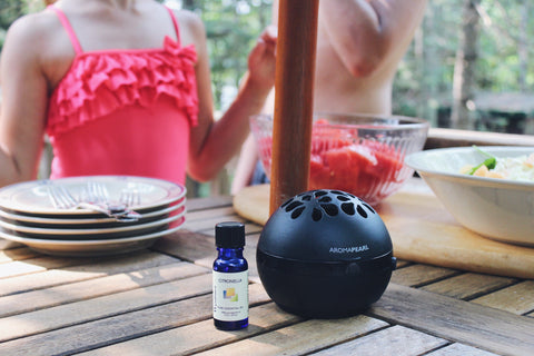 AromaPearl in the outdoors to keep the bugs at bay.