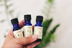 Rosemary essential oil is great for stimulating the roots. It may improve hair growth and increase circulation to the scalp. It may help you get a thicker, shinier mane.   Peppermint essential oil, as well as Roman Chamomile essential oil, has been reported by some skin specialists to act as an anti-inflammatory and antiseptic which can help calm down redness, irritation, and lessen the chance of infection.