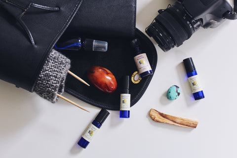 Wyndmere essential oils roll ons you can take on the go in any bag or pocket.