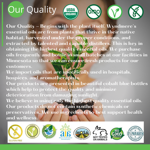 Our quality is on every product label. Transparent ingredient labels is proof Wyndmere products are completely natural.