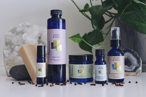 The pure essential oils included in this Collection were traditionally used for their warming and pain relieving action as well as their ability to soothe the muscles and improve circulation. Aches & Pains may be used after physical exertion or for general minor muscle and joint discomfort.