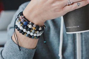 Aromatherapy Bracelet - Charcoal with Lava Stones -  - Wyndmere Naturals