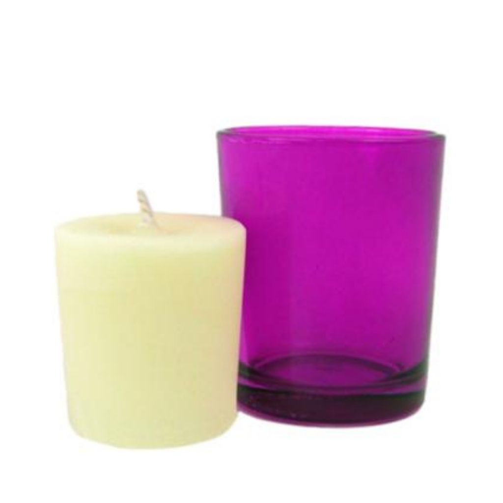 Lavender Garden Candle & Votive Holder