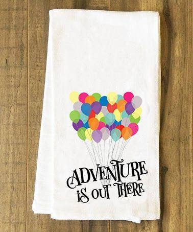 Adventure Is Out There Tea Towel