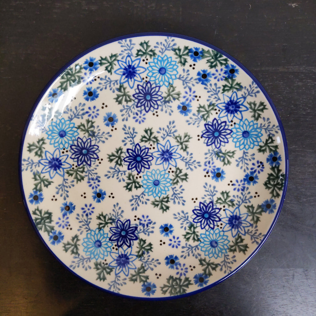 7.75in plate Unikat Turquoise garden