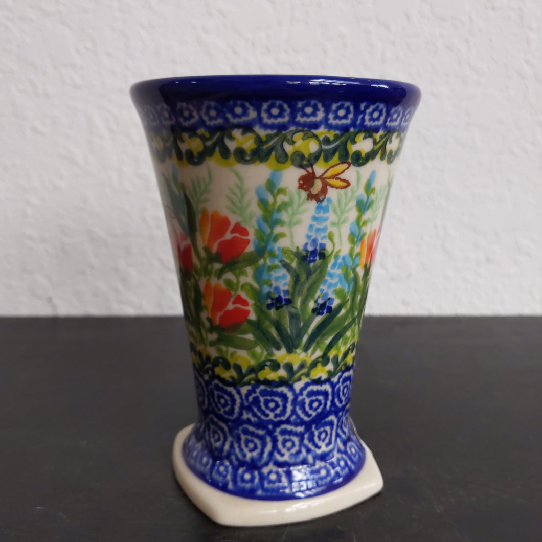 Kalich vase bee and tulip