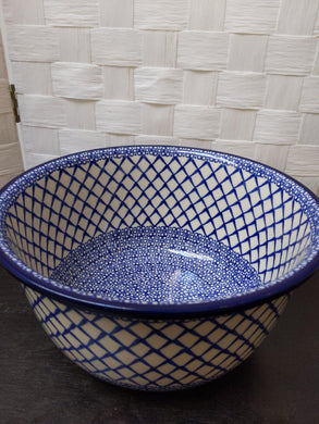 Large blue and white Serving bowl