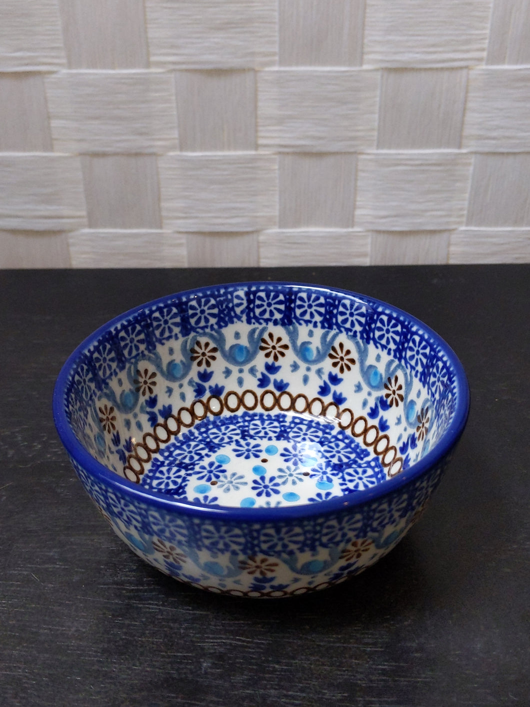 Ice cream bowl groovy blue