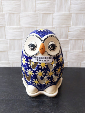 Daisy Owl tea light holder