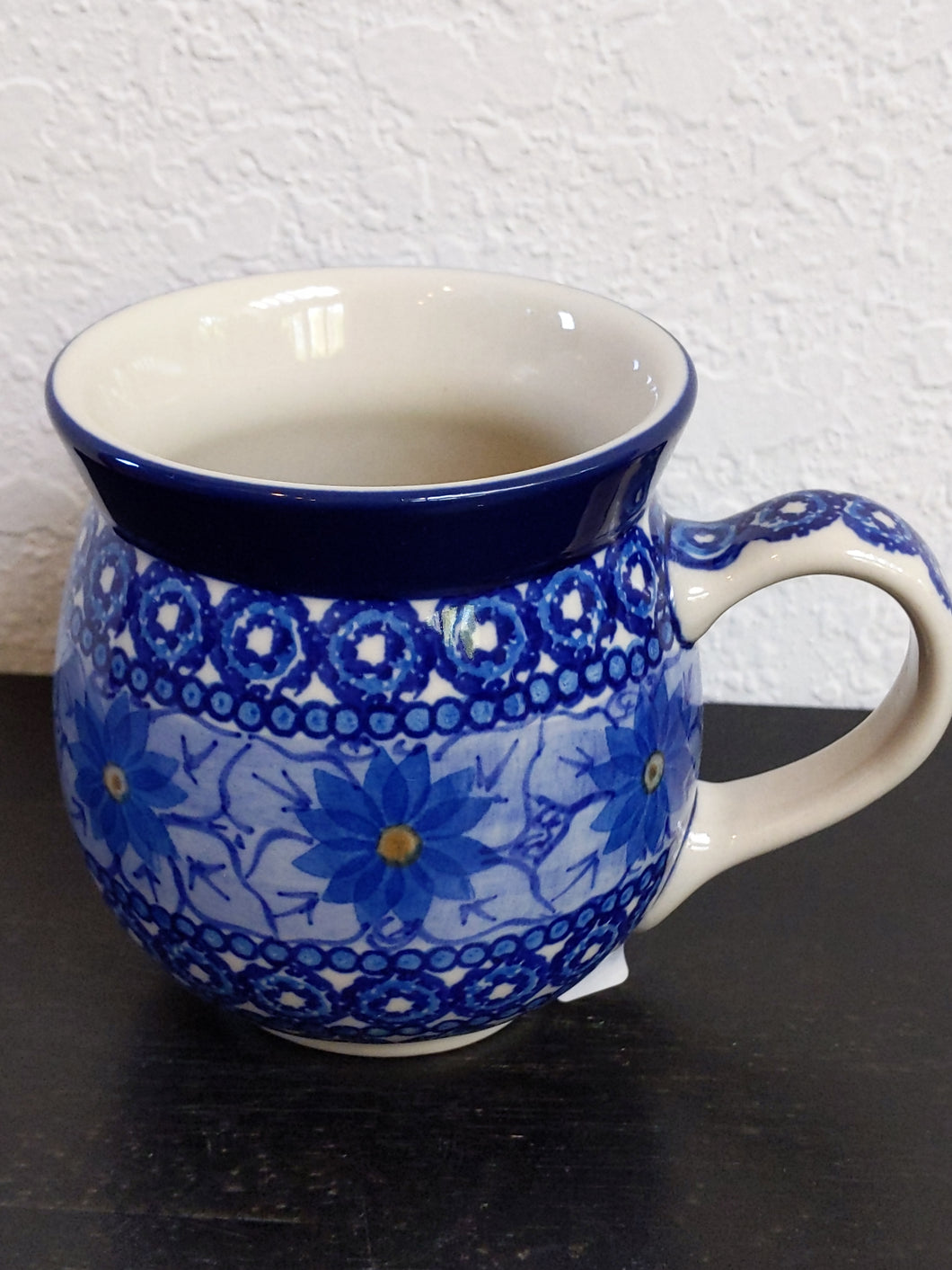 16oz Blue flower mug