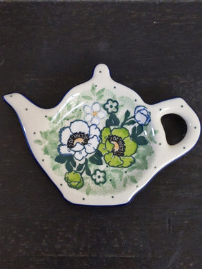Unikat green flower Tea bag holder