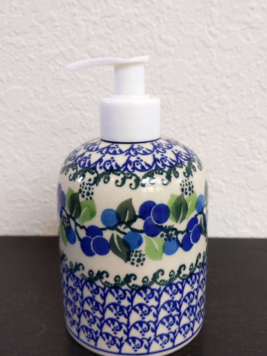 Blueberry soap dispenser
