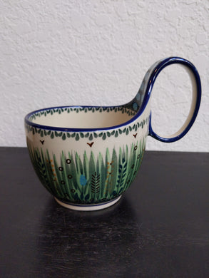 Unikat tall grass soup mug
