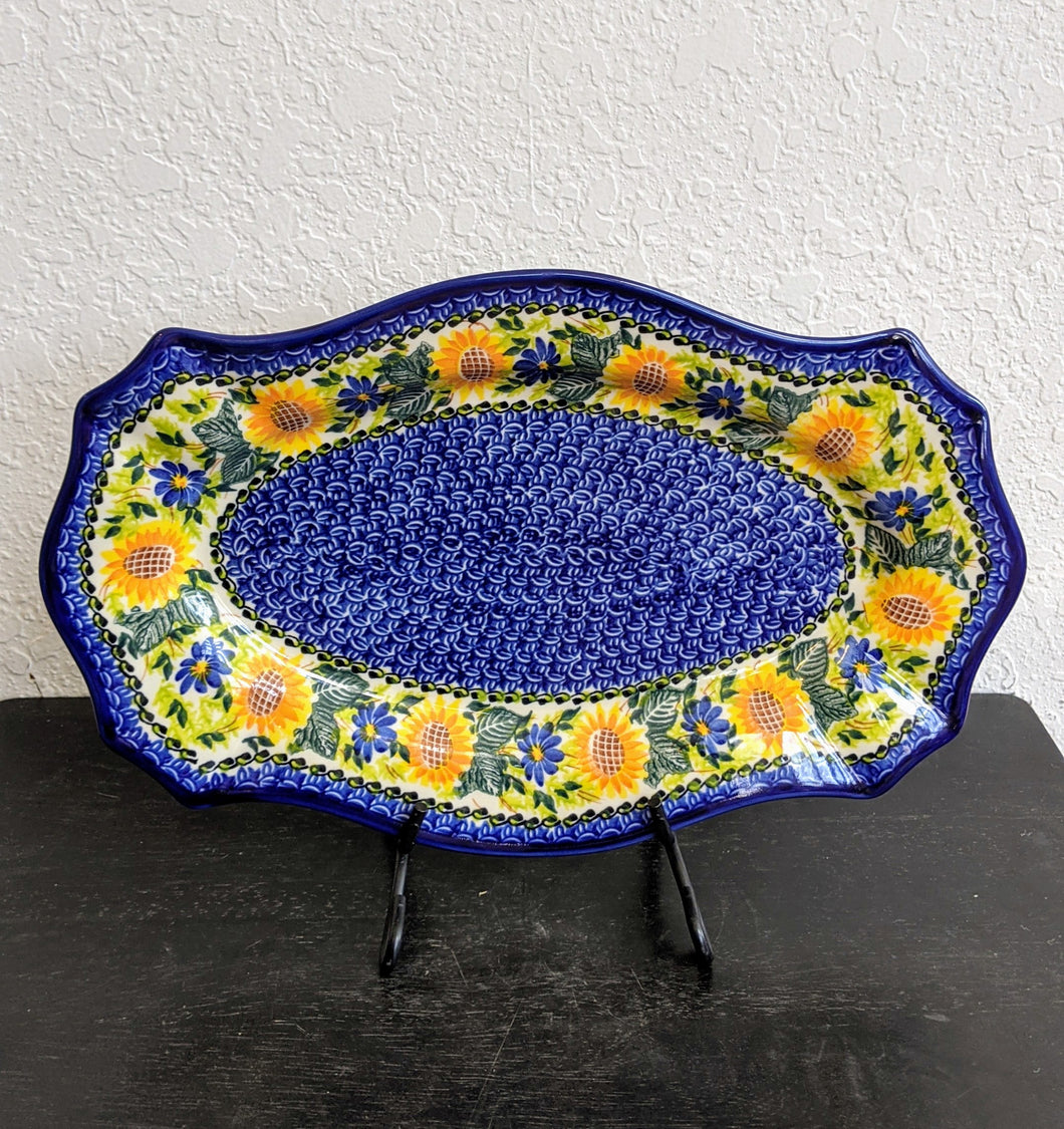 Kalich Sunflower Fluted Oval Platter