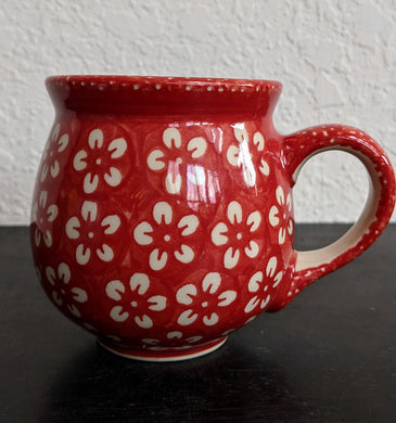 12oz Red Blossom Bubble Mug