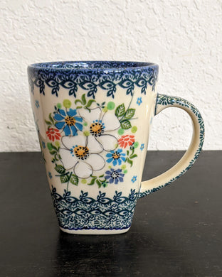 16oz big white flower mug