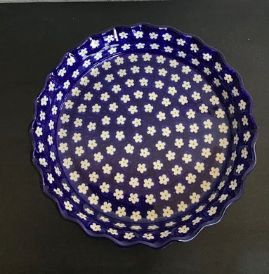 Pie Plate Blue and White