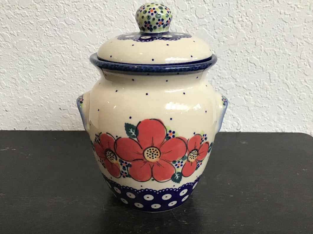 Red Flower Canister
