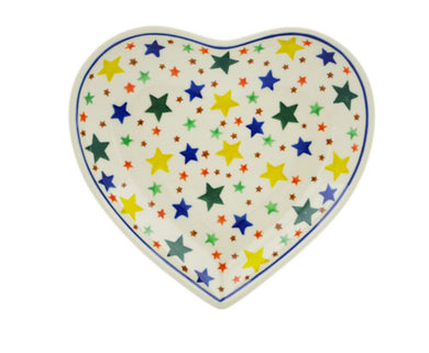 7in Heart Star Plate