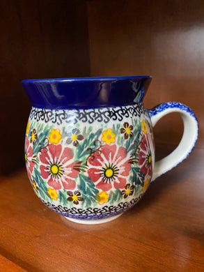 16oz purple flower Unikat mug