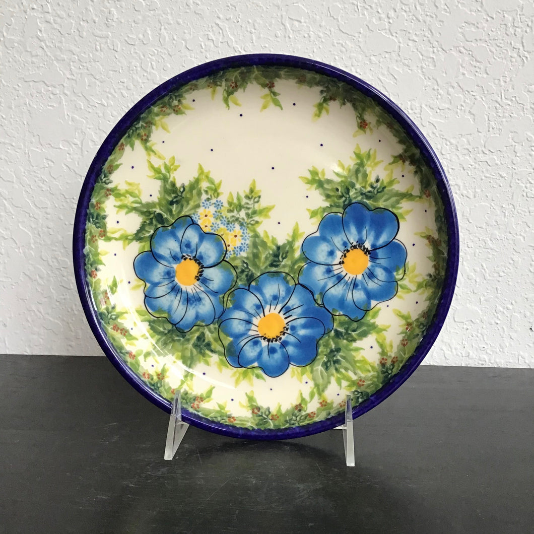 Kalich 8in plate with rim Blue Flower