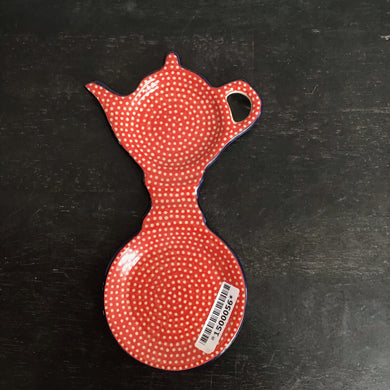Teabag holder/coaster (red)
