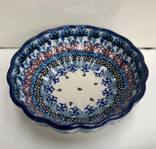Scalloped Bowl (Purple Flag)