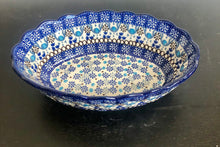 Traditional Scalloped Oval Bakers/Bowls (Groovy Blue)