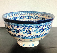 Traditional Medium Pedestal Serving Bowls (Winter Sky)