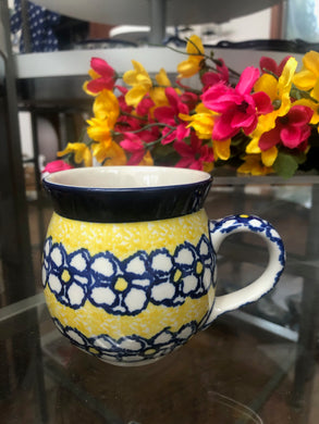 12oz yellow flower Bubble Mug