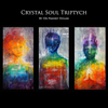 """Crystal Soul Triptych"" 3 Canvas Hand Embellished Matted Painting-Prints by Dr Franky Dolan"