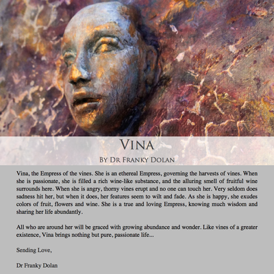 """Vina"" Inspirational Wall Sculpture by Dr Franky Dolan"