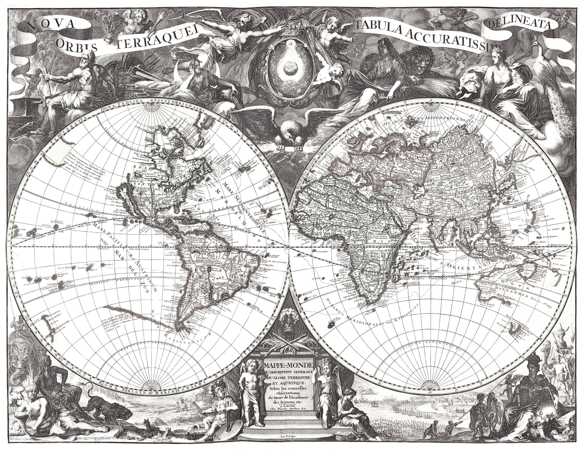 Old World Map Hand Painted On Authentic Cloth Canvas By Dr - Old world map black and white