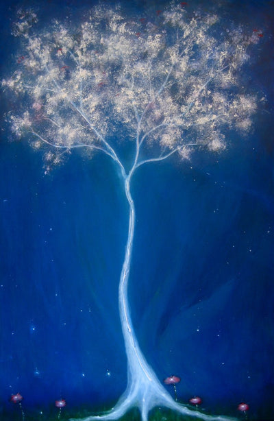 """Spirit of A Tree"" Canvas Hand Embellished Matted Painting-Print by Dr Franky Dolan"