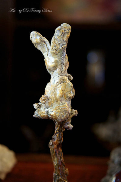 """The Uplifted Rabbit"" Sculpture by Dr Franky Dolan"